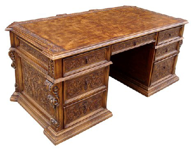 Swell Hand Carved Executive Desk Download Free Architecture Designs Rallybritishbridgeorg