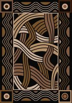 Hand Coiled Black Rug - 8 x 11