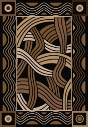 Hand Coiled Black Rug Collection
