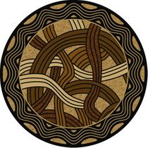 Hand Coiled Natural Rug - 8 Ft. Round