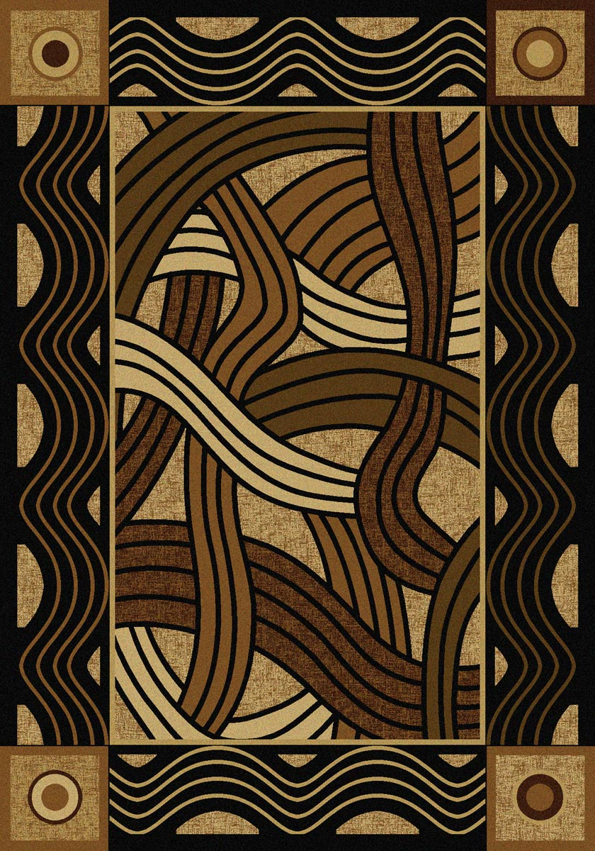 Hand Coiled Natural Rug - 8 x 11