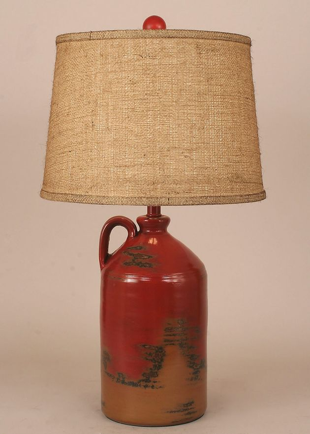 Rustic Lamps Firebrick Handle Pottery Jug Table Lamp