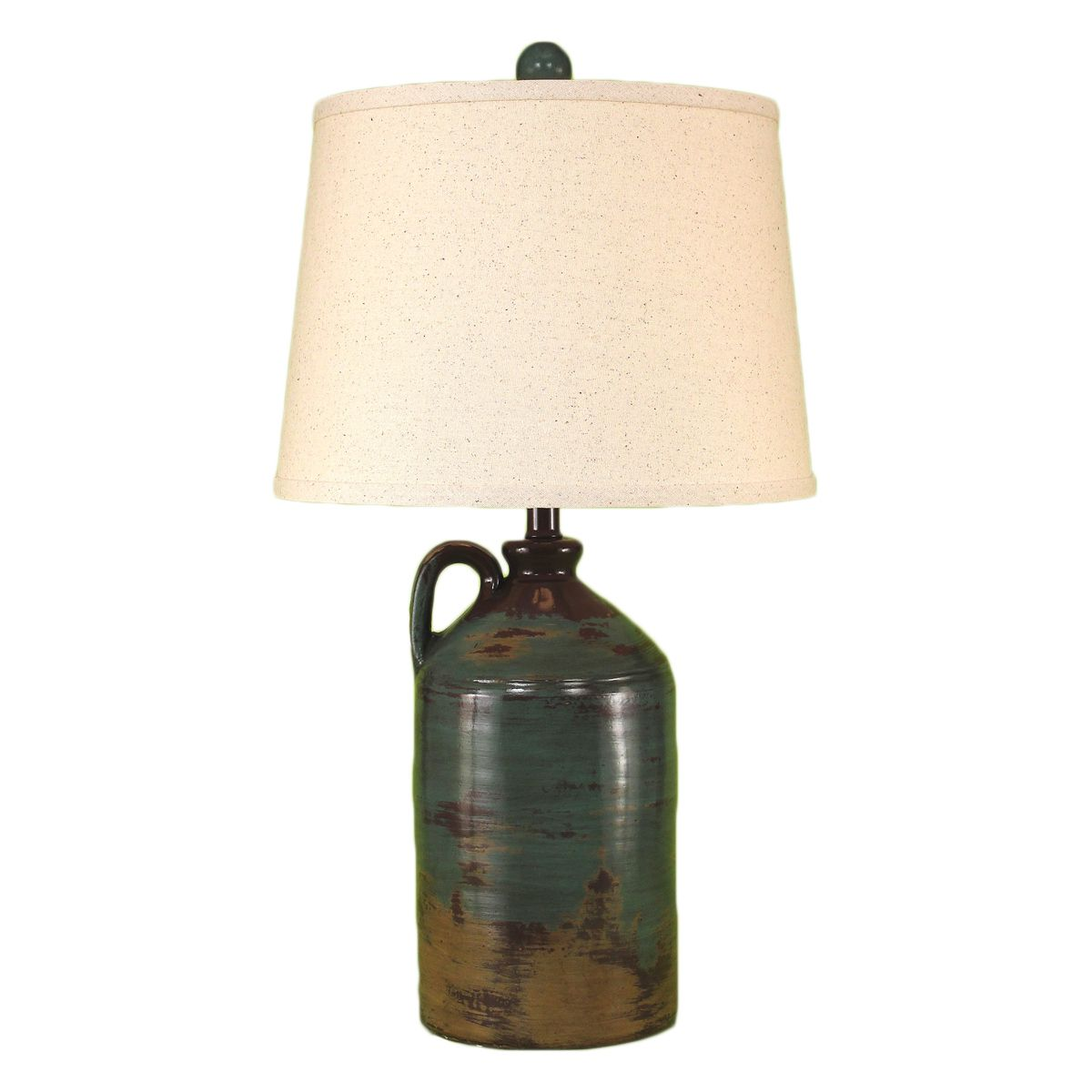 Handle Pottery Jug Table Lamp - Harvest