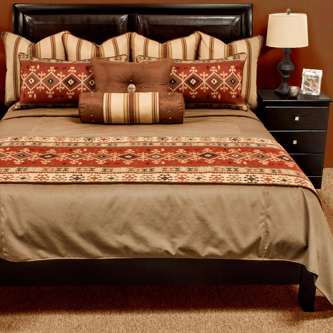 Western Bedding King Plus Size Hanover Reversible Coverlet