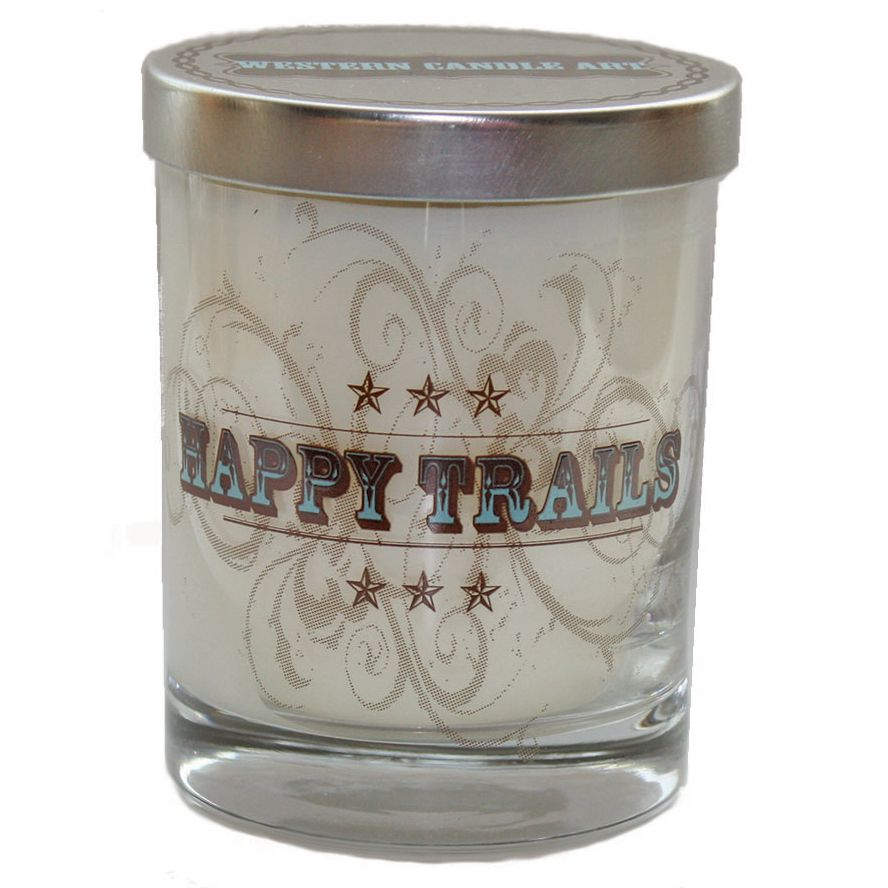 Happy Trails Glass Candle