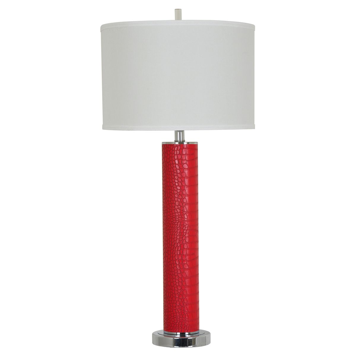 Hardy Red Leather Table Lamp
