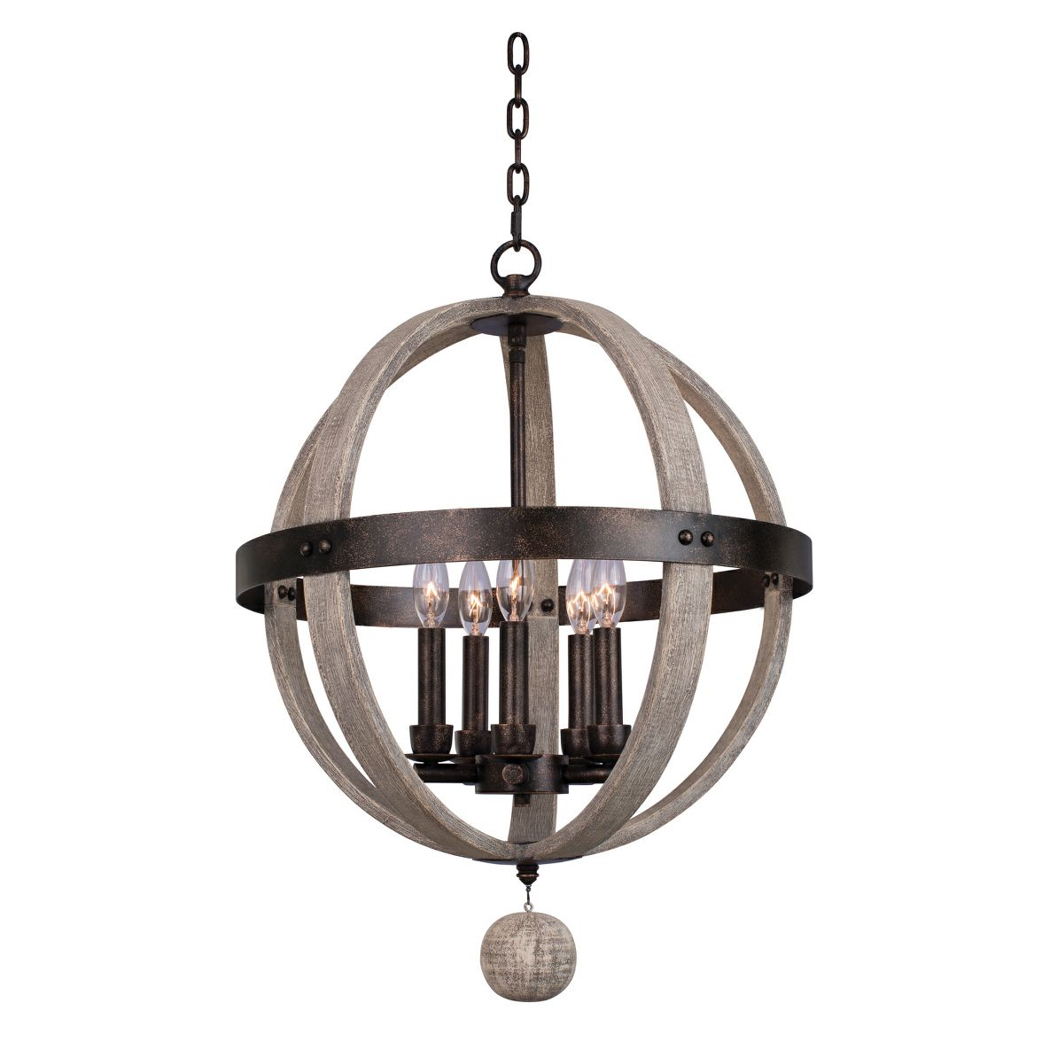 Harper Round 5 Light Chandelier