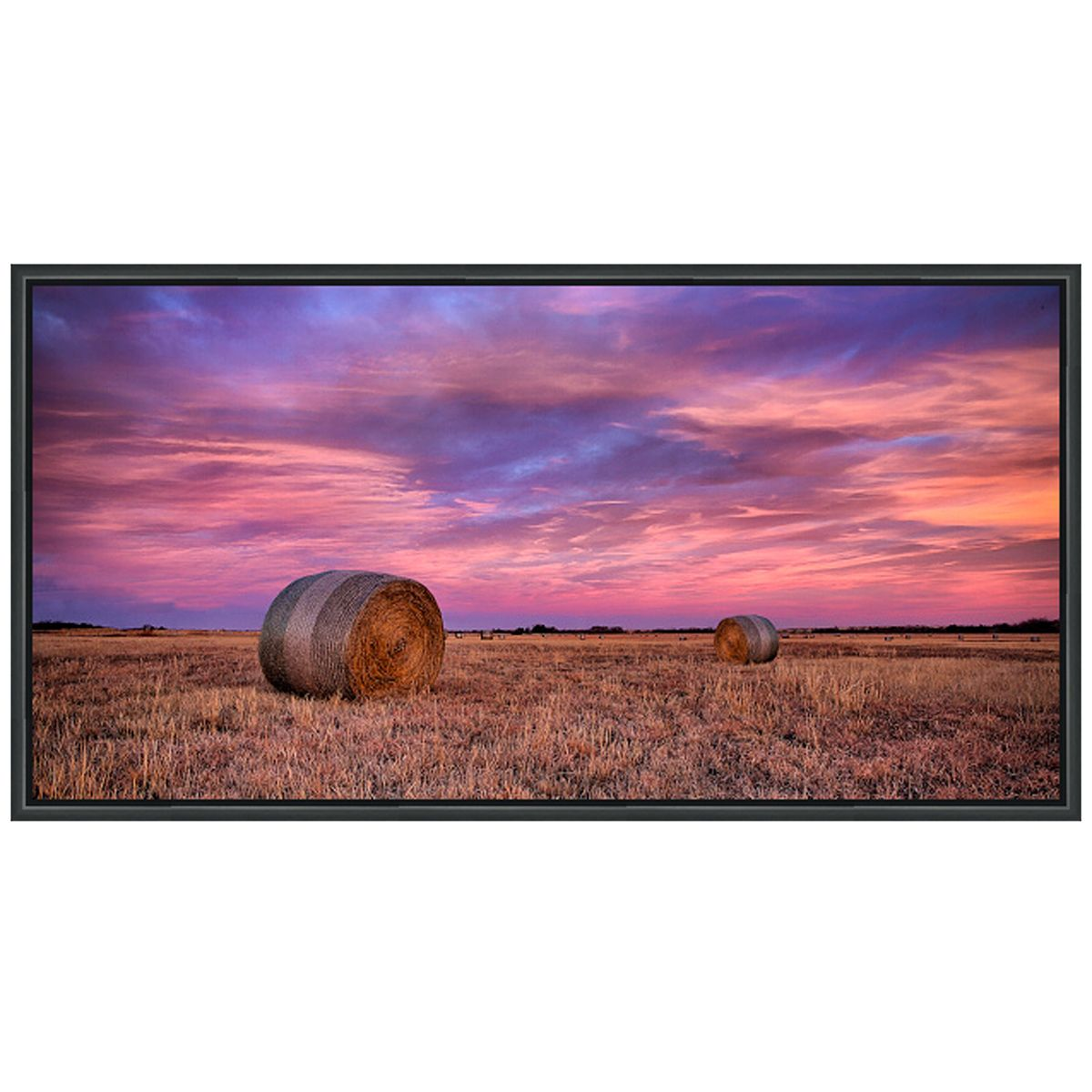 Hayfield Landscape Canvas Art