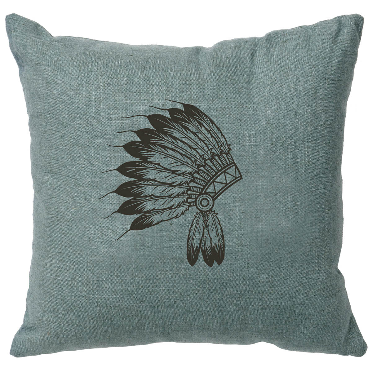 Headdress Linen Pillow - Ocean