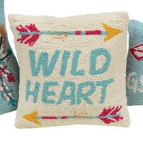 Heart & Arrows Hooked Pillow