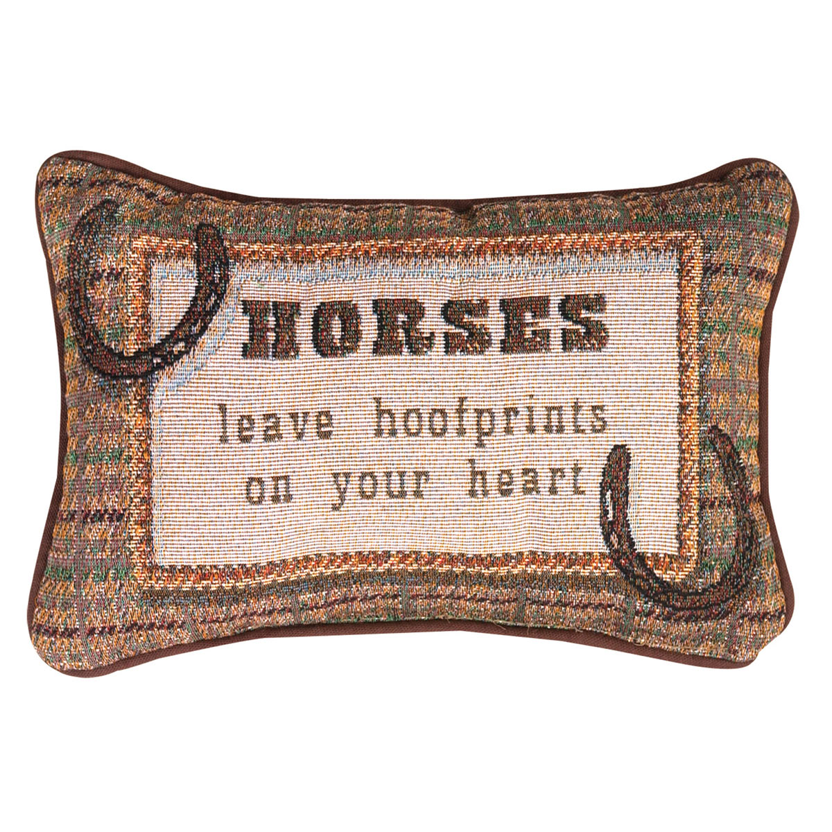 Hearts & Horseshoes Tapestry Pillow