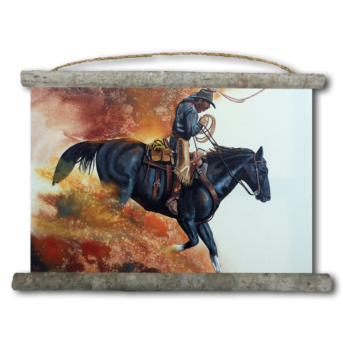 Hell Bent For Leather Canvas Horizontal Wall Scroll