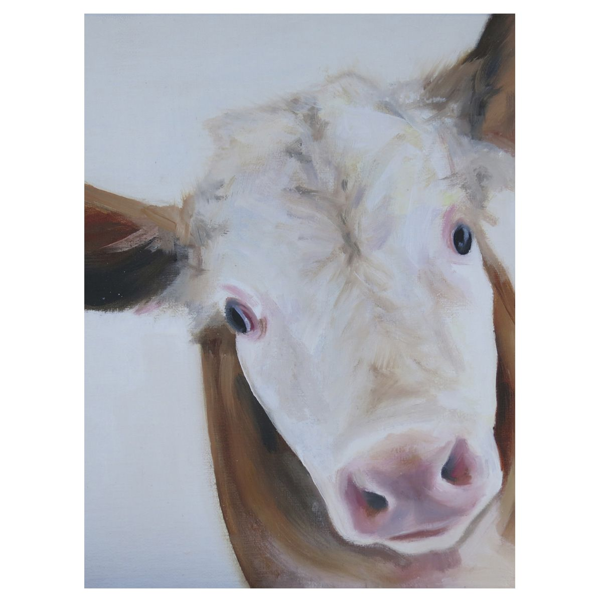 Hereford Cow Canvas Art