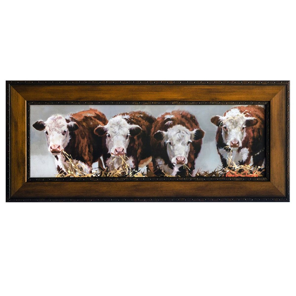 Hereford Graze Framed Print