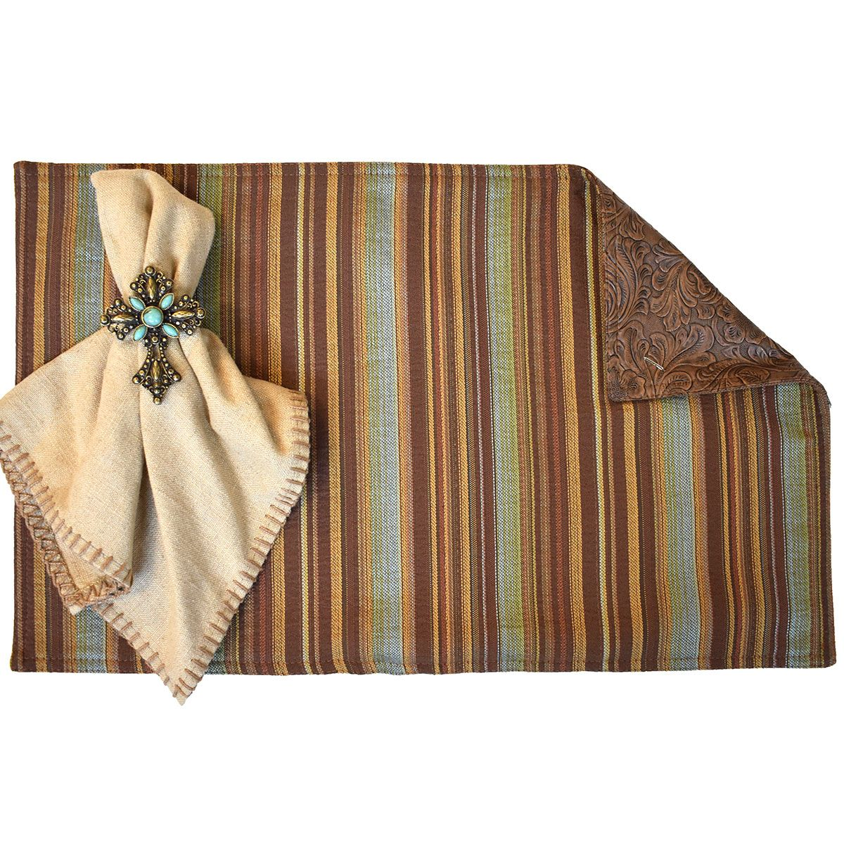 Heritage & Rustica Clay Reversible Placemats - Set of 4