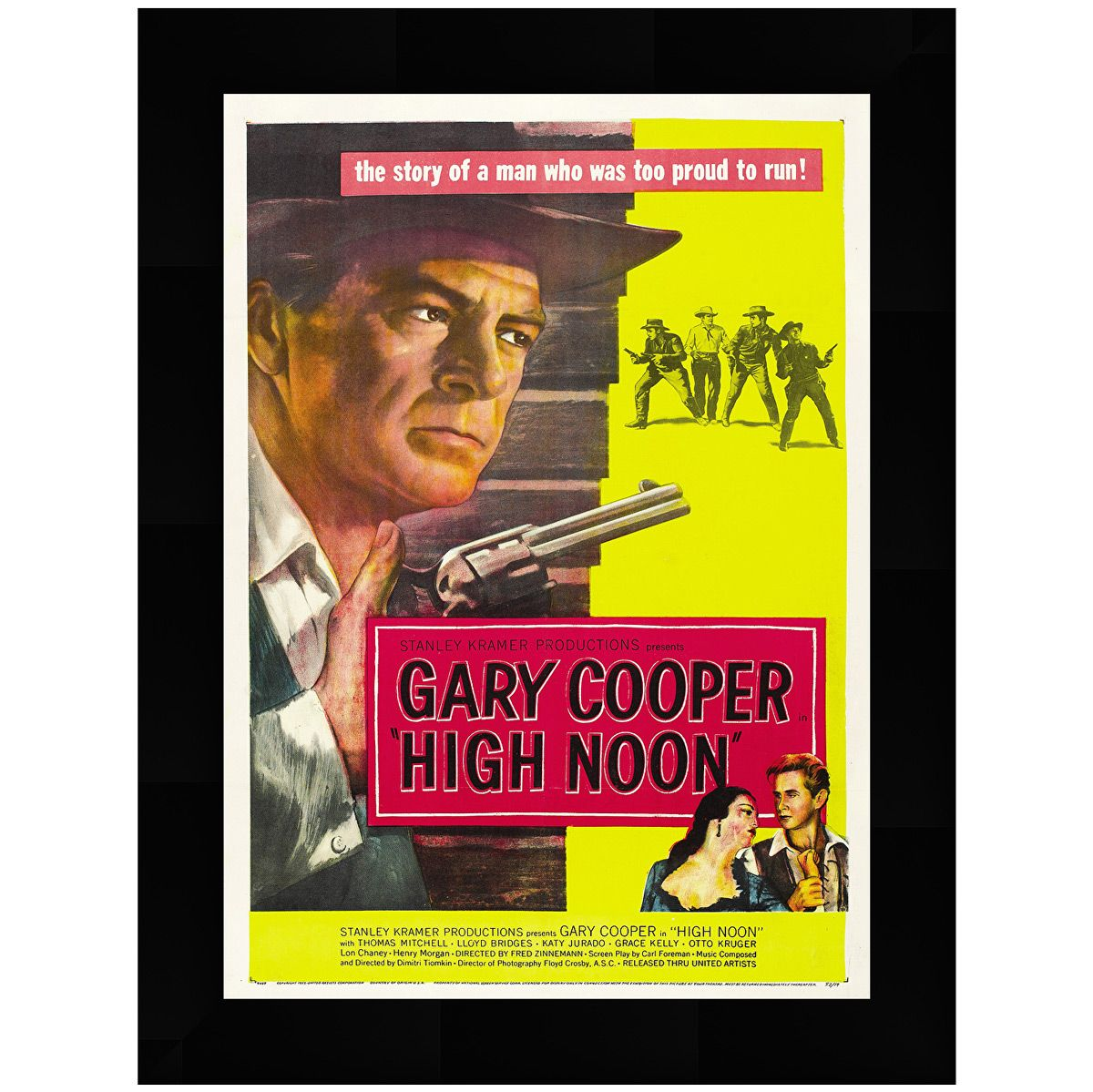 High Noon Movie Poster Framed Art