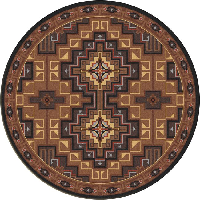 High Rez Southwest Rug - 8 Foot Round
