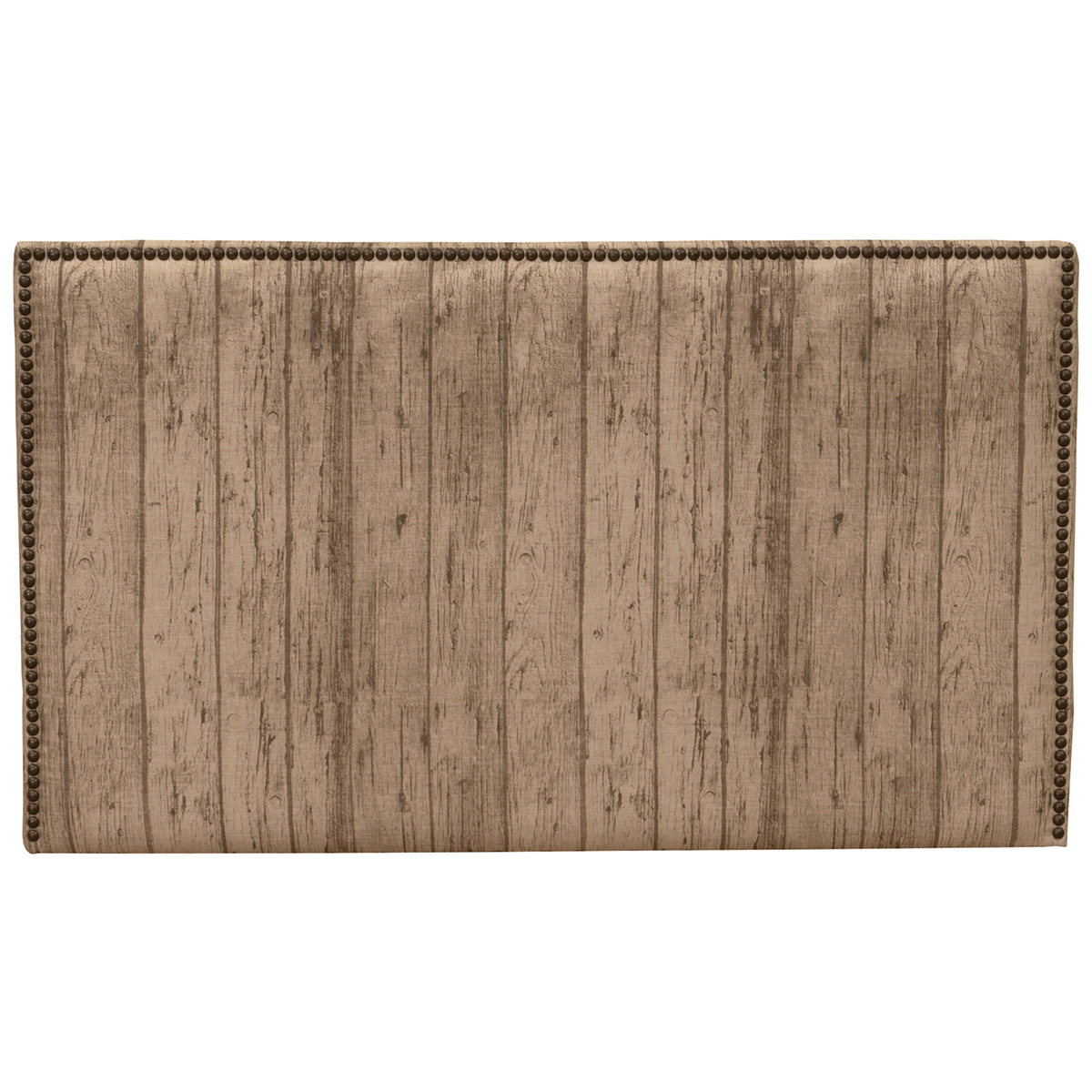 Highland Wood Plank Fabric Headboard - Queen