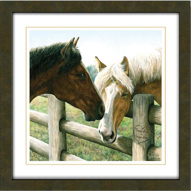 Hitched Personalized Horse Print - Small