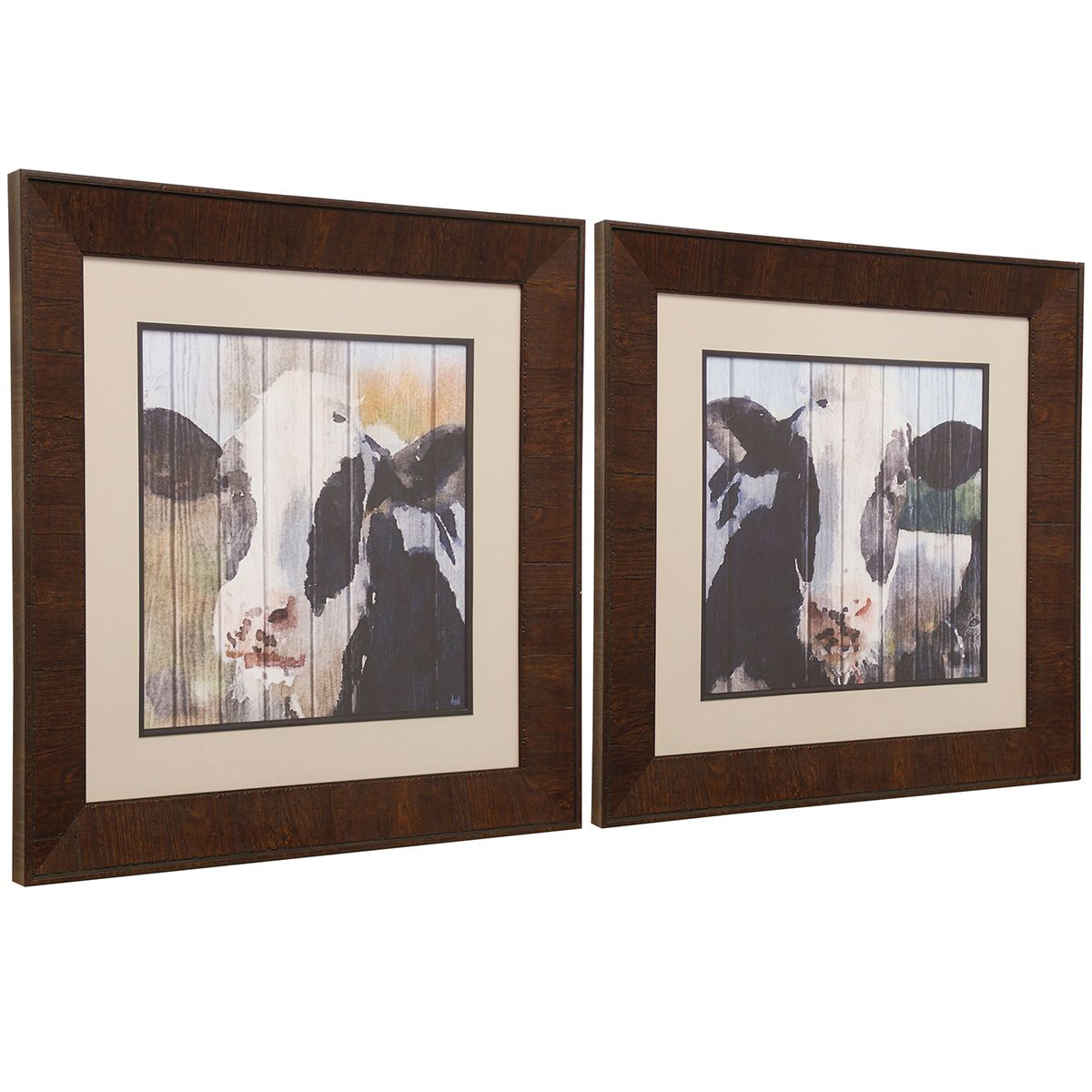 Holstein Framed Wall Art - Set of 2