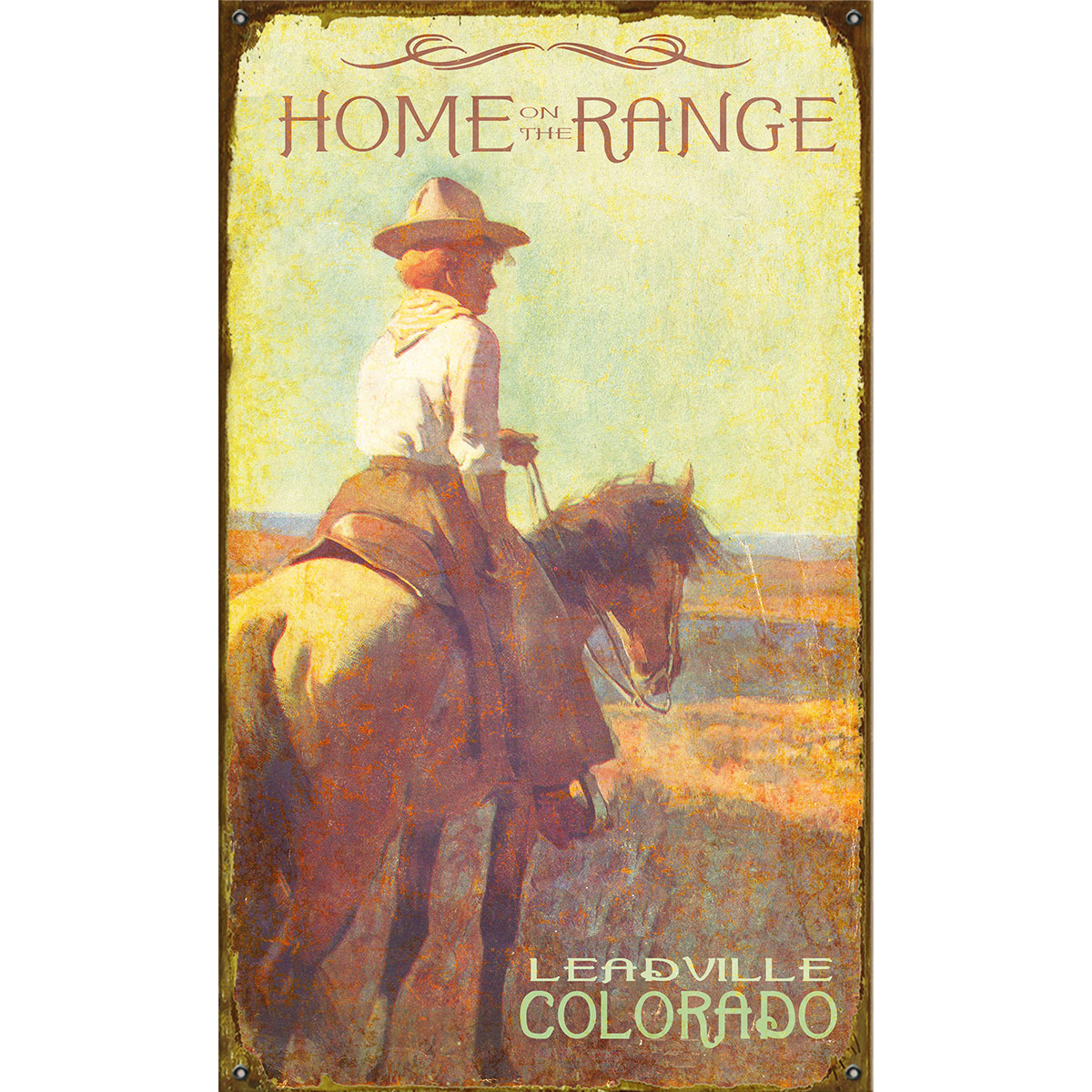 Home on the Range Personalized Sign - 18 x 30