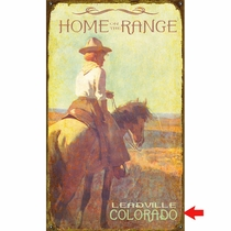 Home on the Range Personalized Sign - 28 x 48