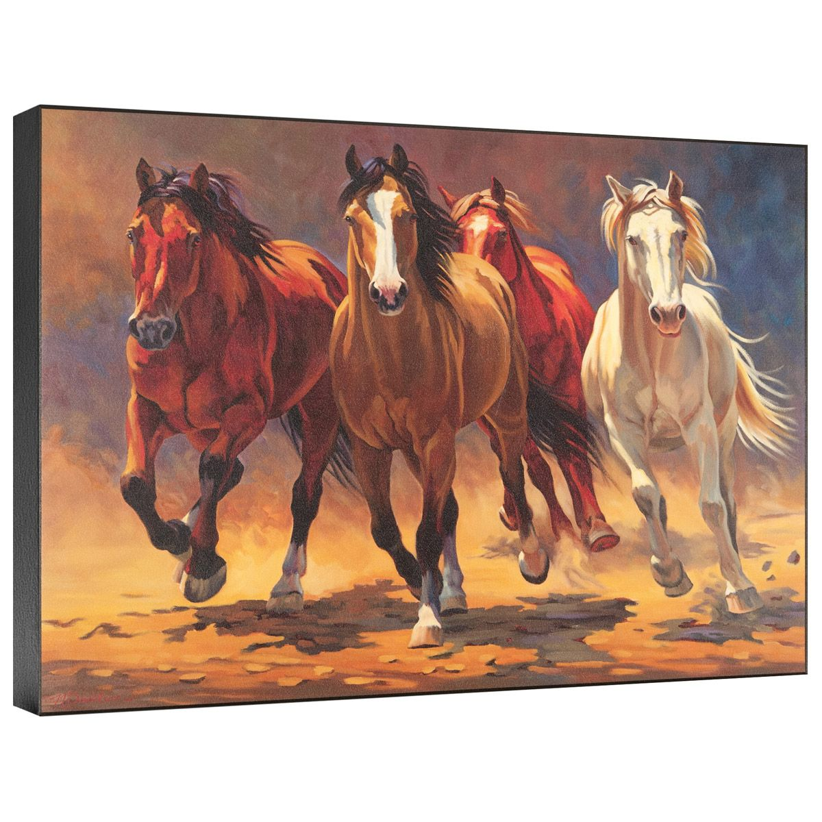 Hoofbeats and Heartbeats Gallery Wrapped Canvas