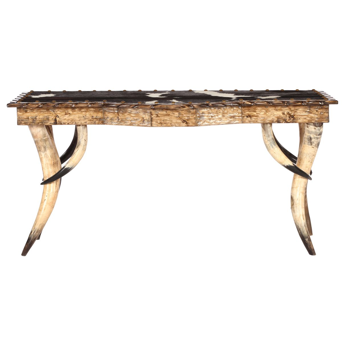 Horn Collection Bow-Front Sofa Table