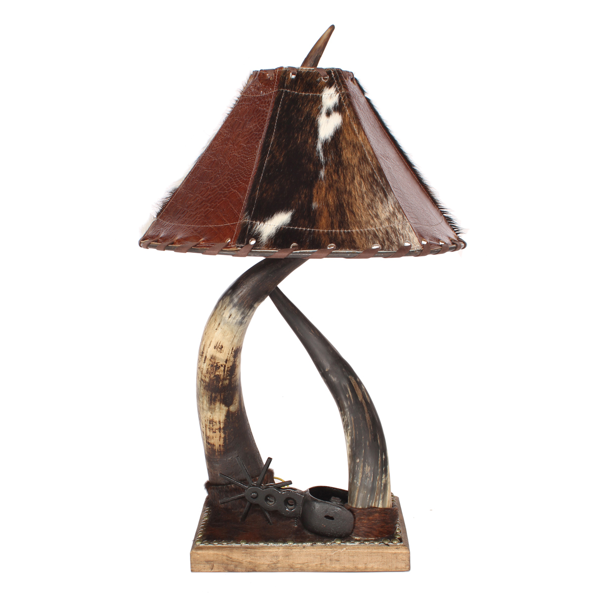 Horn Collection Table Lamp with Spur - Double
