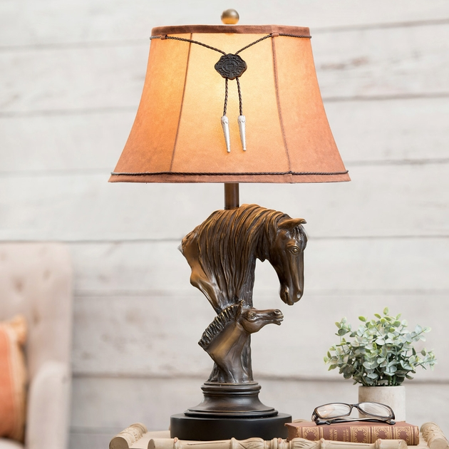 Rustic Lamps Horse Amp Colt Table Lamp