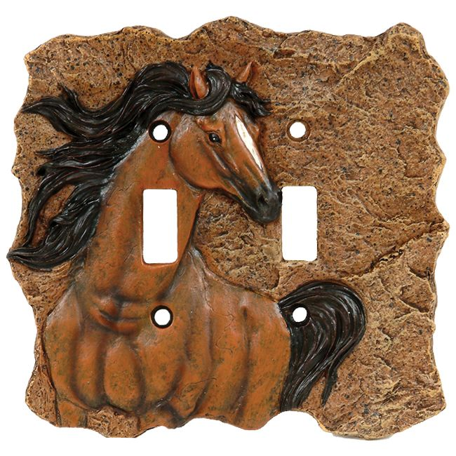 Horse Double Switch Cover