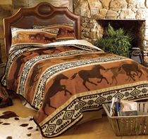 Horse Fever Fleece Blanket - Queen