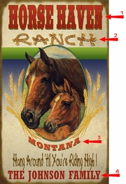 Horse Haven Ranch Sign - 28 x 48