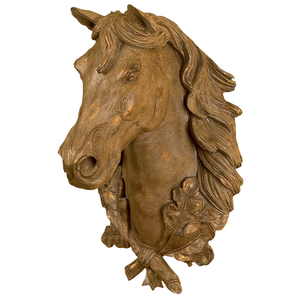 Horse Head Wall Mount - Gold