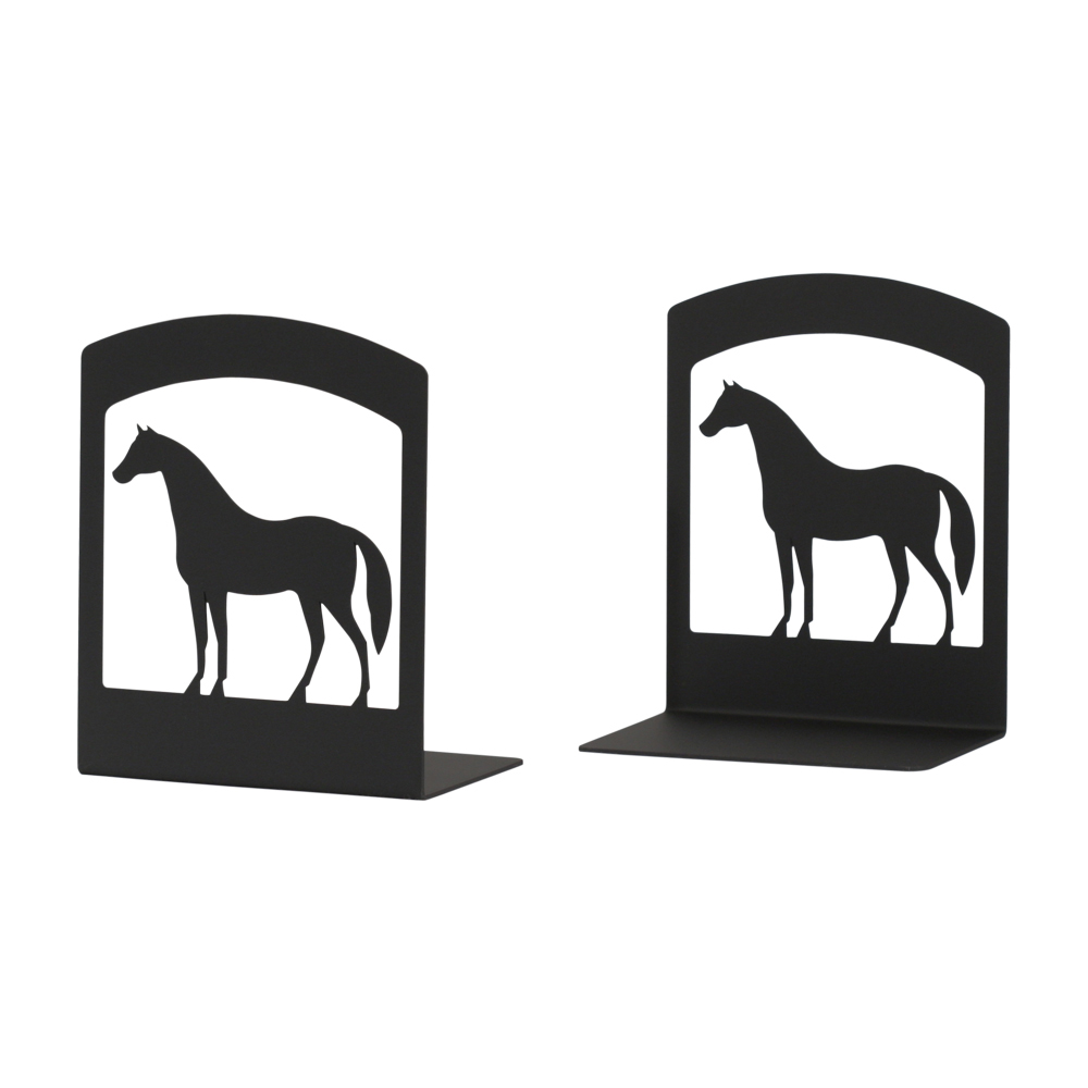 Horse Silhouette Bookends