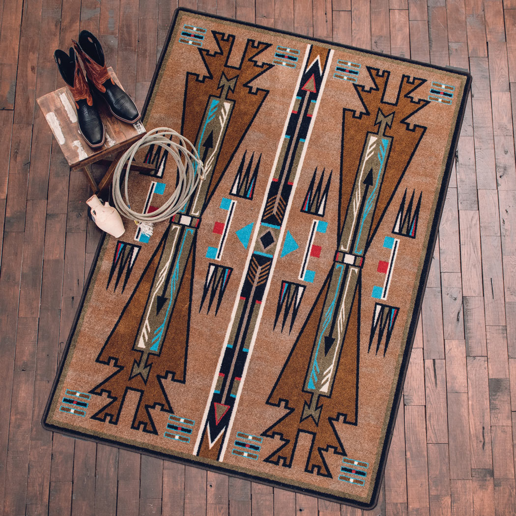 Horse Thieves Turquoise Rug - 2 x 8