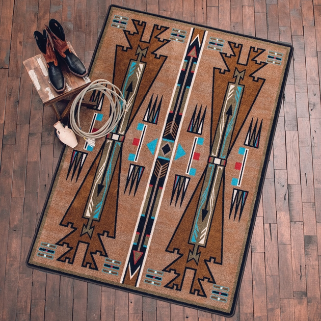 Horse Thieves Turquoise Rug