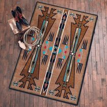 Horse Thieves Turquoise Rug - 5 x 8