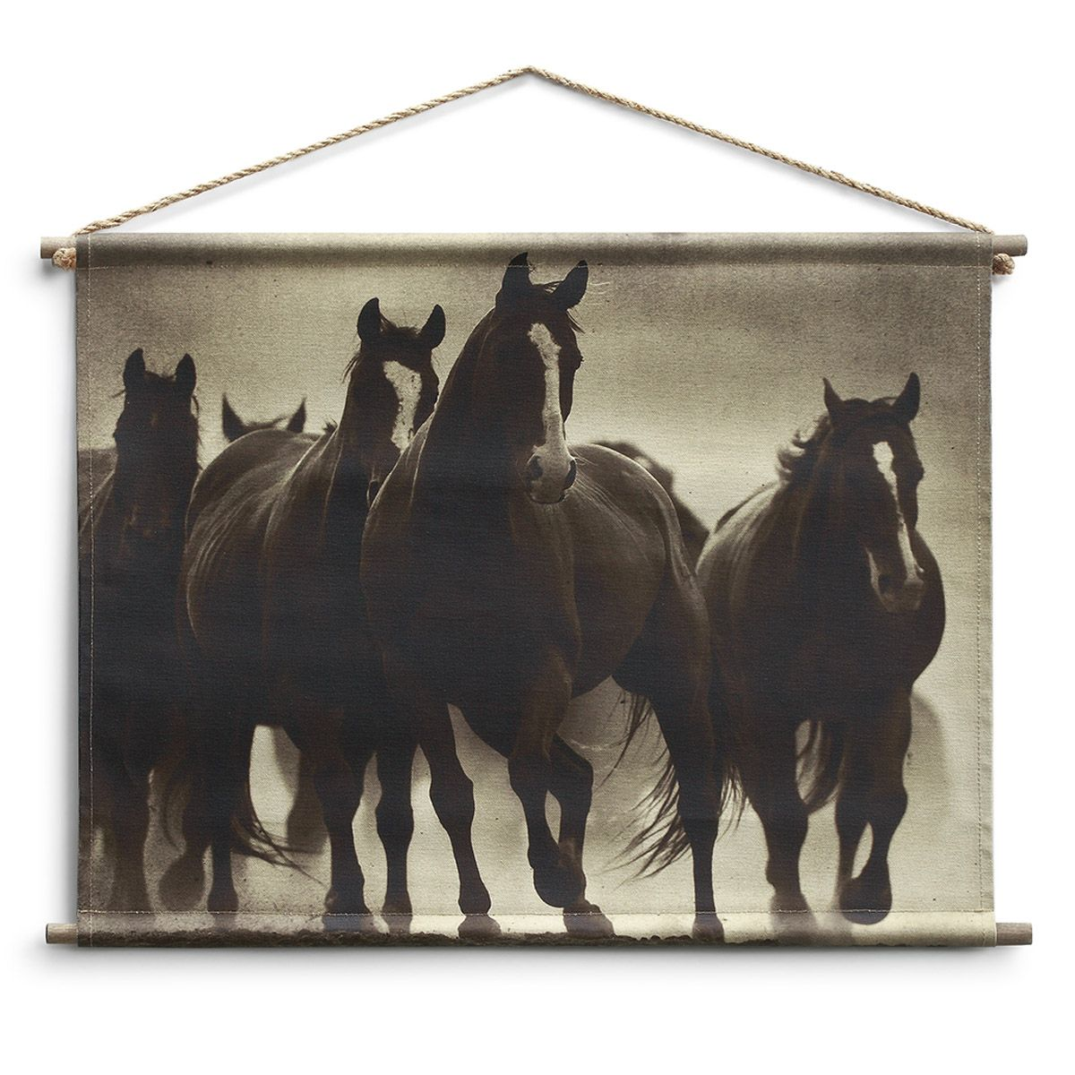 Horse Trot Canvas Wall Hanging