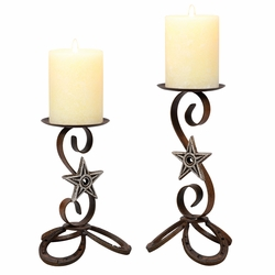 Horseshoe & Star Candle Holders