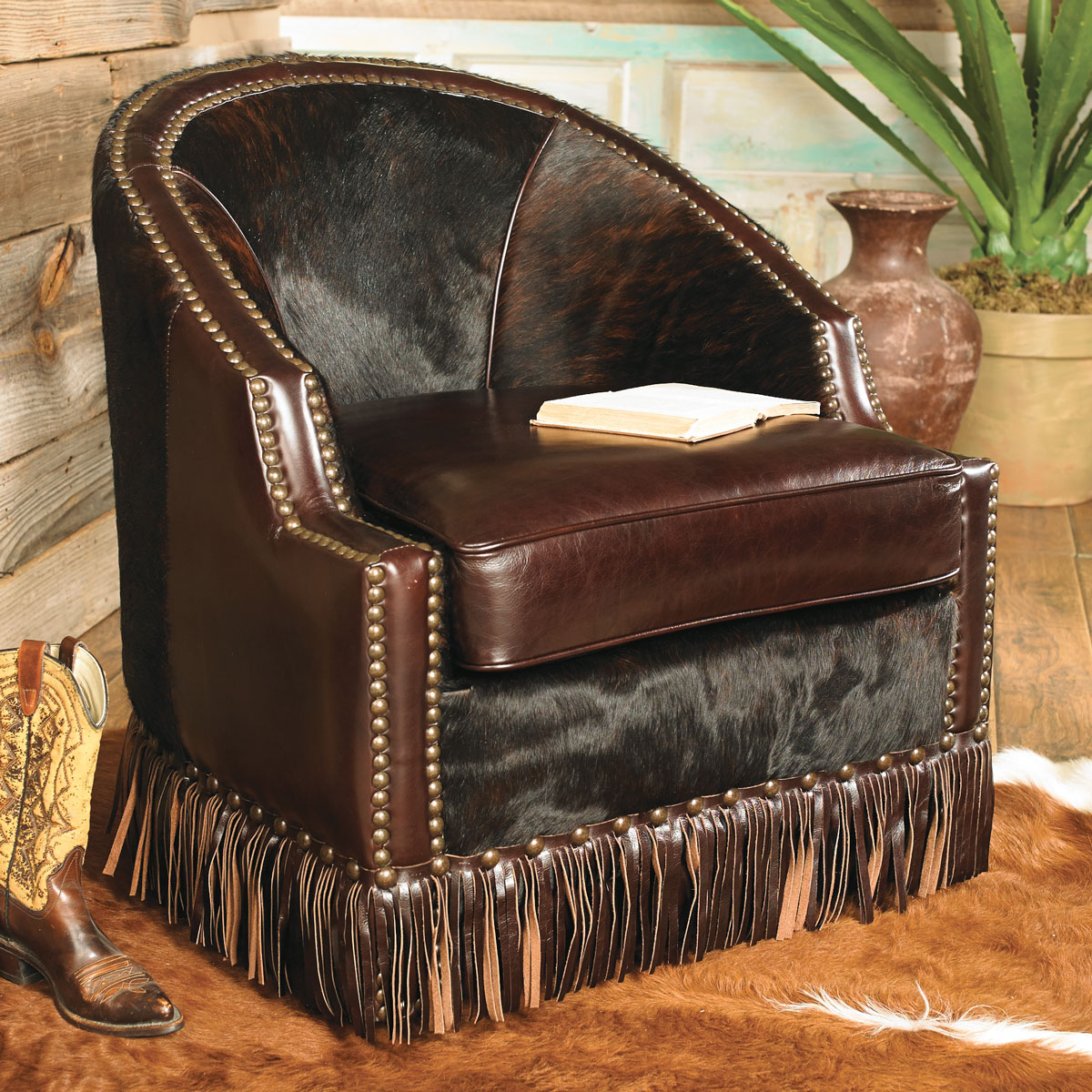 Houston Cowhide Leather Chair