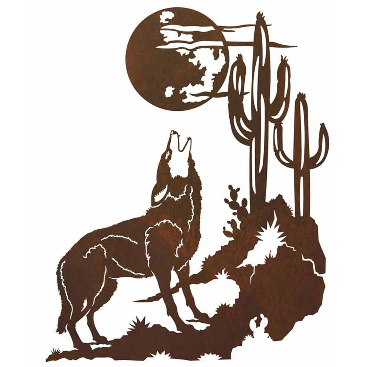 Howling Coyote Wall Art