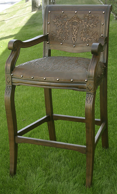 Imperial Barstool with Arms - Set of 3