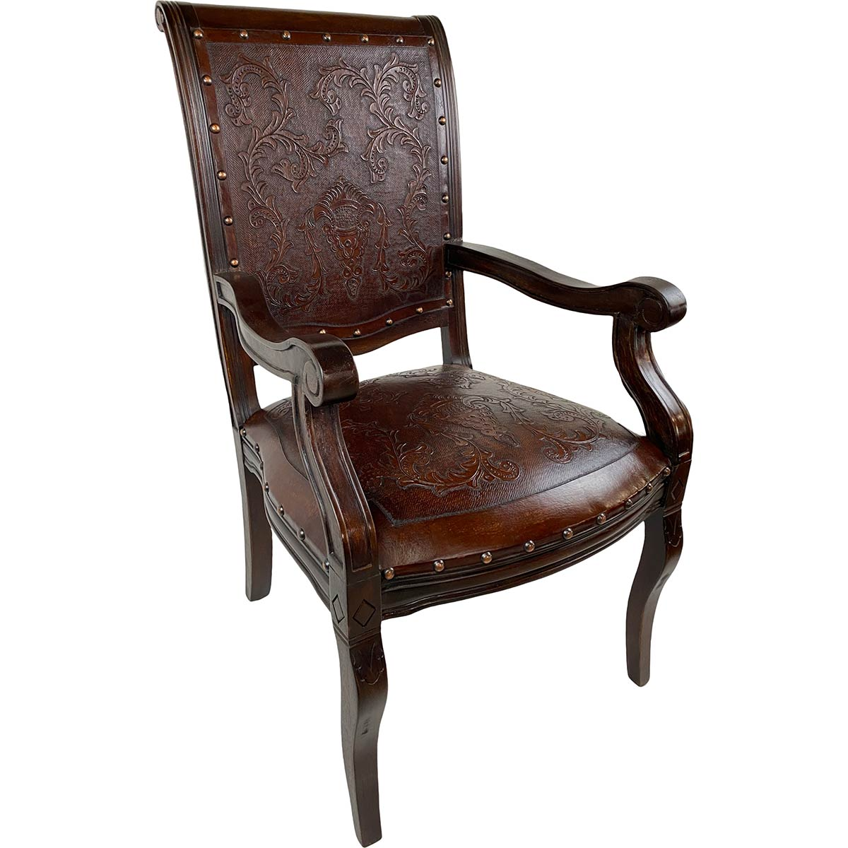 Imperial Chair with Arms - Colonial & Antique Brown