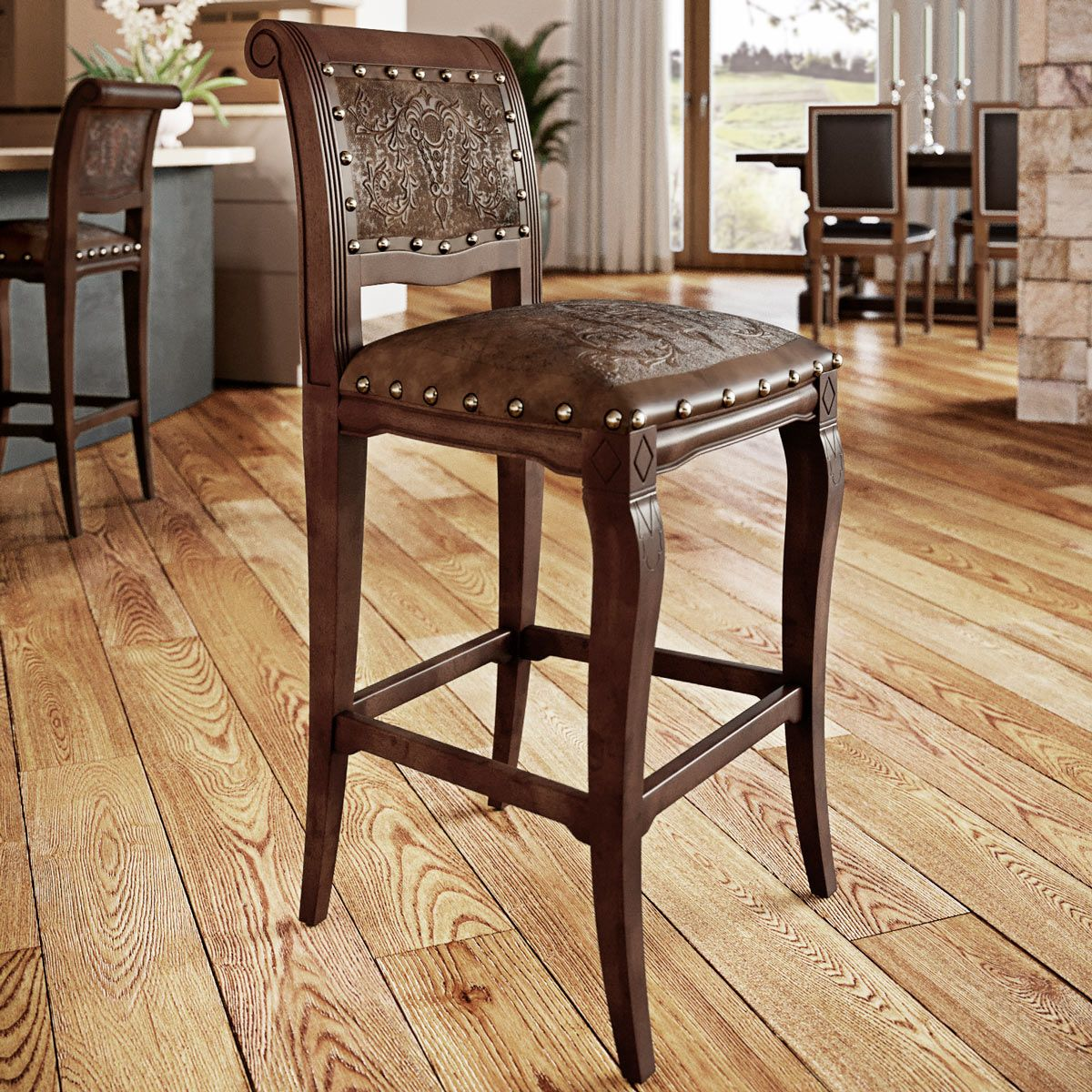 Imperial Counter Stool - Antique Brown