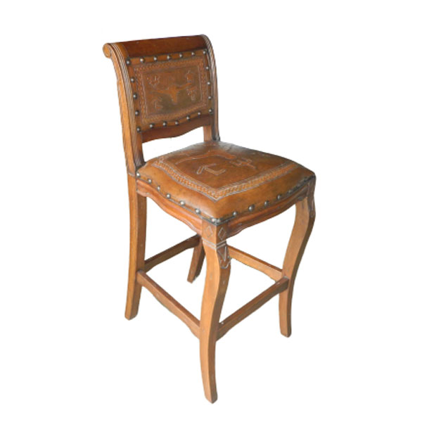 Imperial Counter Stool - Steer Brands & Rustic