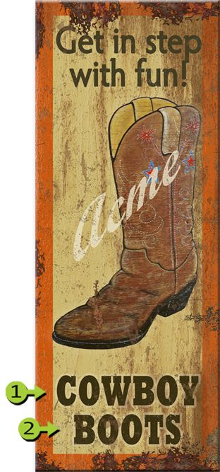 In Step with Fun Personalized Sign - 14 x 36