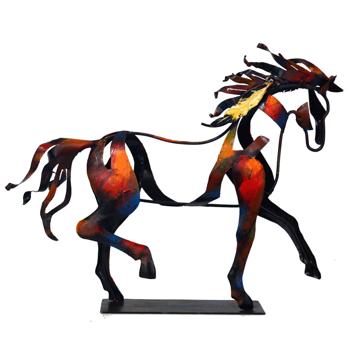 Indian Walking Horse Sculpture