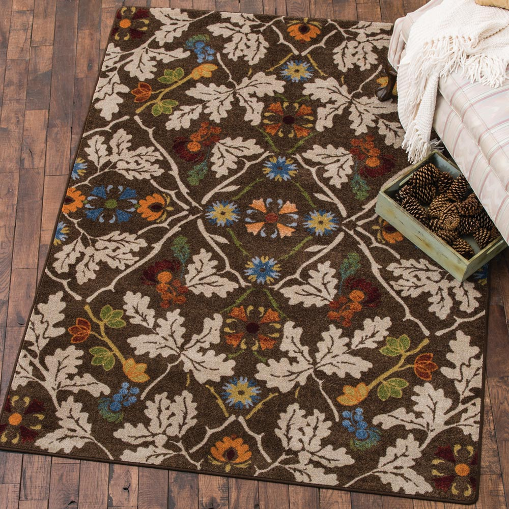 Infinity Oak Brown Rug - 3 x 4