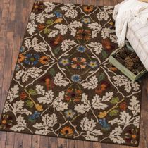 Infinity Oak Brown Rug - 5 x 8